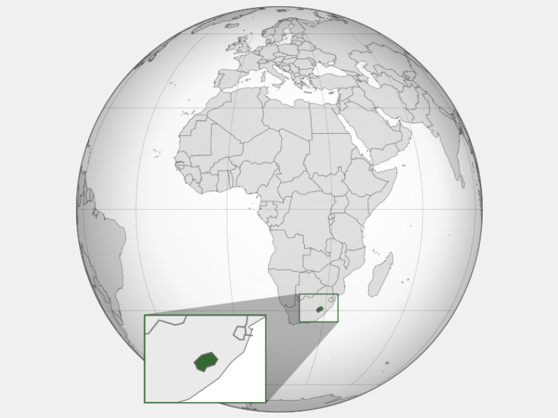 Kingdom of Lesotho locator map