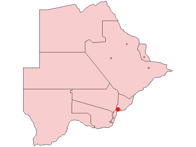 Gaborone locator map