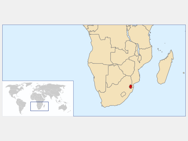 Eswatini locator map