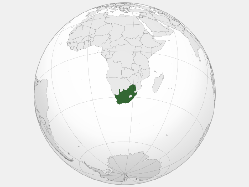 Republic of South Africa locator map